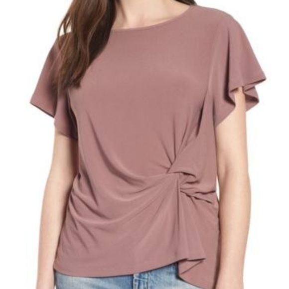 Leith Tops - Leith Side Knot Top sz Large in Purple Mauve